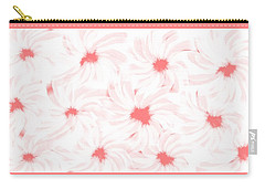 'apricot And White Flower Abstract 2' Carry-all Pouch