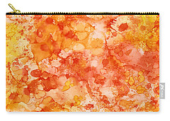 Carry-all Pouch featuring the painting Apricot Delight  by Patricia Lintner