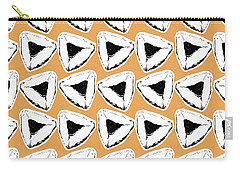 Carry-all Pouch featuring the mixed media Apricot Hamentashen- Art By Linda Woods by Linda Woods