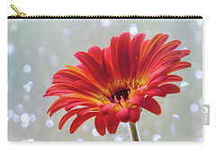 Carry-all Pouch featuring the photograph April Showers Gerbera Daisy Square by Terry DeLuco