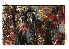 Carry-all Pouch featuring the digital art April Skull by Reed Novotny
