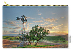 Spring Sunset And Windmill Carry-all Pouch