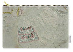 Apron On Canvas - Mixed Media Carry-all Pouch