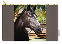 Aqha Foundation Mare Miss Smokin' Blue Jeans Carry-all Pouch