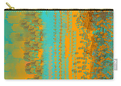 Aqua And Copper Abstract Carry-all Pouch
