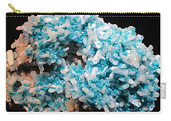 Aqua And White Gemstone Carry-all Pouch by Barbara Yearty