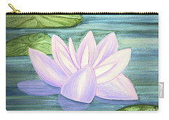 Aqua Bloom Carry-all Pouch