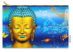 Aqua Buddha Carry-all Pouch
