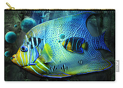 Aqua Fantasy Art World Carry-all Pouch