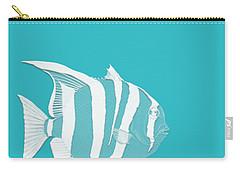 Aqua Fish  Carry-all Pouch by Bonnie Bruno