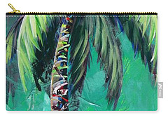 Aqua Palm Carry-all Pouch by Kristen Abrahamson
