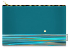 Carry-all Pouch featuring the digital art Aqua Sea by Val Arie