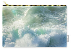 Carry-all Pouch featuring the photograph Aqua Surge by Amy Weiss