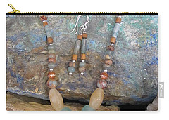 Aqua Terra Jasper #s52 Carry-all Pouch by Barbara Prestridge