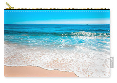 Aquamarine Island Beach Carry-all Pouch by Colleen Kammerer