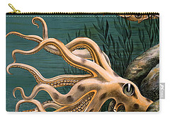 Aquarium Octopus Vintage Poster Restored Carry-all Pouch