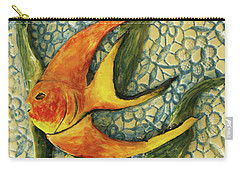Aquarium On The Wall Carry-all Pouch by Itzhak Richter