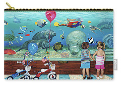 Aquarium With Twins Towel Version Carry-all Pouch