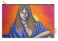 Carry-all Pouch featuring the drawing Aquarius by Michael  TMAD Finney