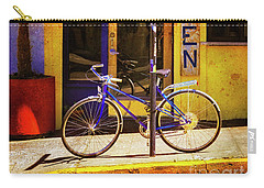 Carry-all Pouch featuring the photograph Aqueria Bicycle by Craig J Satterlee