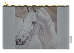 Arab Stallion In The Desert Carry-all Pouch