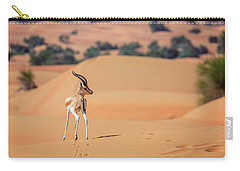 Carry-all Pouch featuring the photograph Arabian Gazelle by Alexey Stiop
