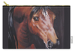Arabian Horse 1 Carry-all Pouch by Barbara Prestridge