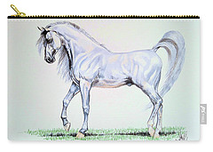 Arabian Stallion  Carry-all Pouch by Cheryl Poland