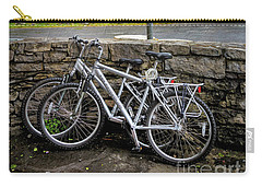 Carry-all Pouch featuring the photograph Aran Island Bicycles by Craig J Satterlee