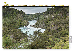Carry-all Pouch featuring the photograph Aratiatia Rapids by Gary Eason