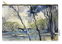 Arbres Bleus Carry-all Pouch by Robin Miller-Bookhout