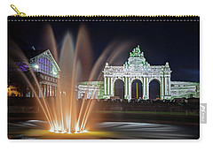 Arcade Du Cinquantenaire Fountain At Night - Brussels Carry-all Pouch