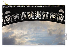 Carry-all Pouch featuring the photograph Arch At The Eiffel Tower by Heidi Hermes