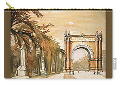 Carry-all Pouch featuring the painting Arch- Barcelona, Spain by Ryan Fox