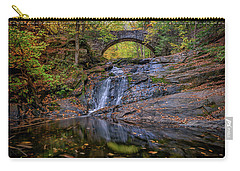 Carry-all Pouch featuring the photograph Arch Bridge In Autumn by Rick Berk