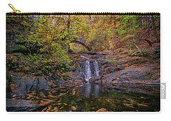 Carry-all Pouch featuring the photograph Arch Bridge In Vaughan Woods by Rick Berk