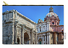 Carry-all Pouch featuring the photograph Arch Of Septimius Severus At The Roman Forum by Eduardo Jose Accorinti