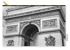 Arch Of Triumph - Paris - Black And White Carry-all Pouch