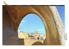 Carry-all Pouch featuring the photograph Arch On The Rooftop Of The Casa Mila by Colleen Kammerer