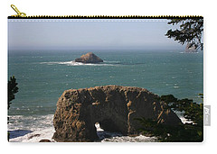 Carry-all Pouch featuring the photograph Arch Rock View by Marie Neder