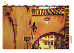 Carry-all Pouch featuring the photograph Arch Way In Old Town. Series Golden Prague by Jenny Rainbow