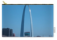 Carry-all Pouch featuring the photograph Arch With Lumiere by J R Seymour