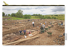 Archaeologists At Work At Roman Vindolanda Carry-all Pouch