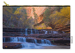 Carry-all Pouch featuring the photograph Archangel Falls In Autumn by Patricia Davidson