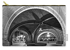 Arched In Black And White Carry-all Pouch