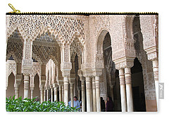 Carry-all Pouch featuring the photograph Arches And Columns Granada by Jacqi Elmslie