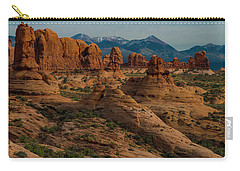 Carry-all Pouch featuring the photograph Arches National Park by Gary Lengyel
