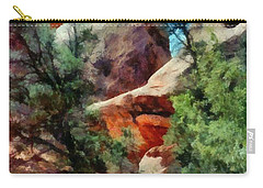 Arches National Park Trail Carry-all Pouch by Michelle Calkins