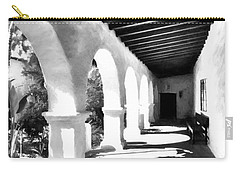 Carry-all Pouch featuring the photograph Arches Of Southern California Bw by Mel Steinhauer