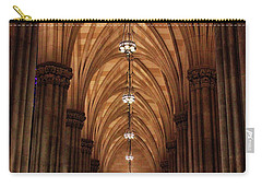 Carry-all Pouch featuring the photograph Arches Of St. Patrick's Cathedral by Jessica Jenney